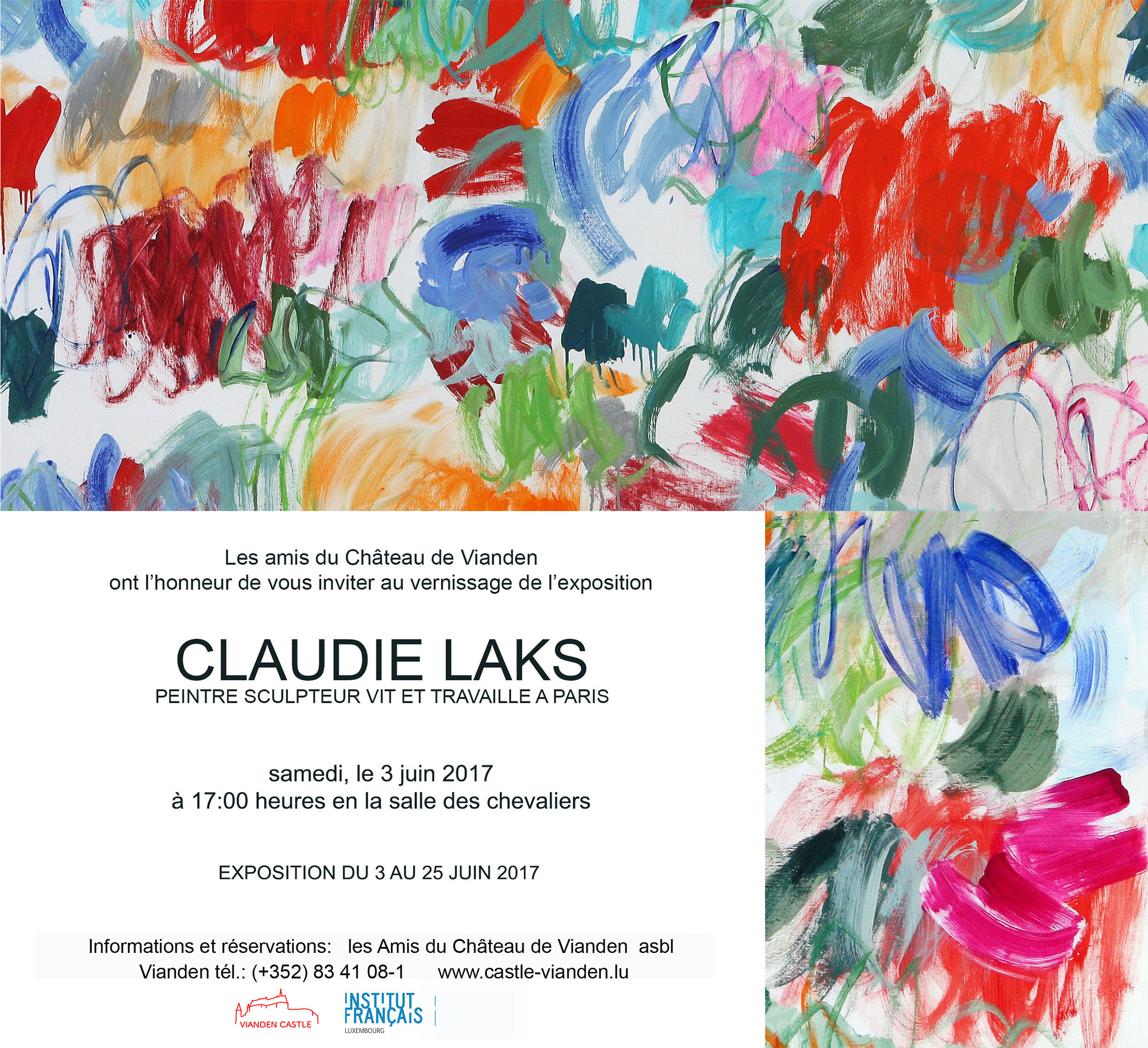 invitation exposition Claudie Laks